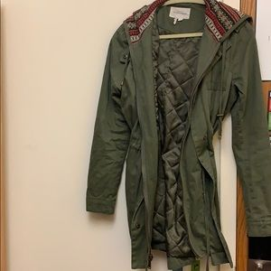 BCBGeneration army green parka with hood